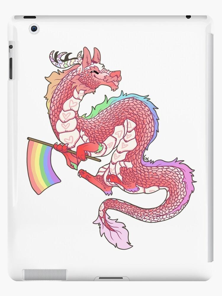 Gay Pride Eastern Dragon - Pastel.  by Kaiodra