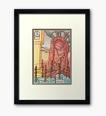doomsday - colored pencil & mechanical pencil Framed Print