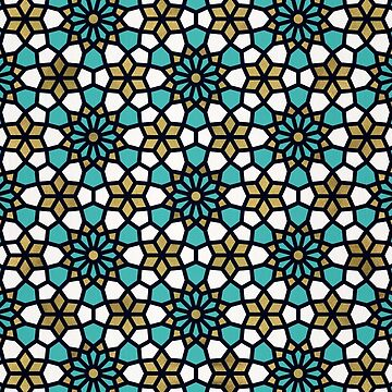 Persian Mosaic – Turquoise & Gold Palette by catcoq