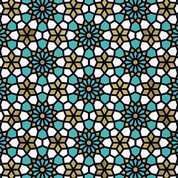 Persisches Mosaik - Türkis & Gold Palette von catcoq