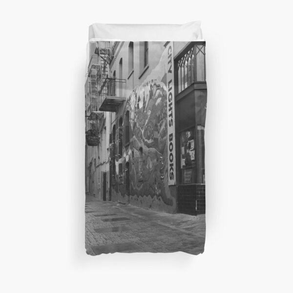 Jack Kerouac Alley Duvet Cover