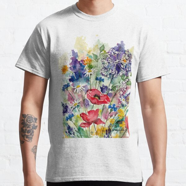 Spring Flowers Watercolor Classic T-Shirt