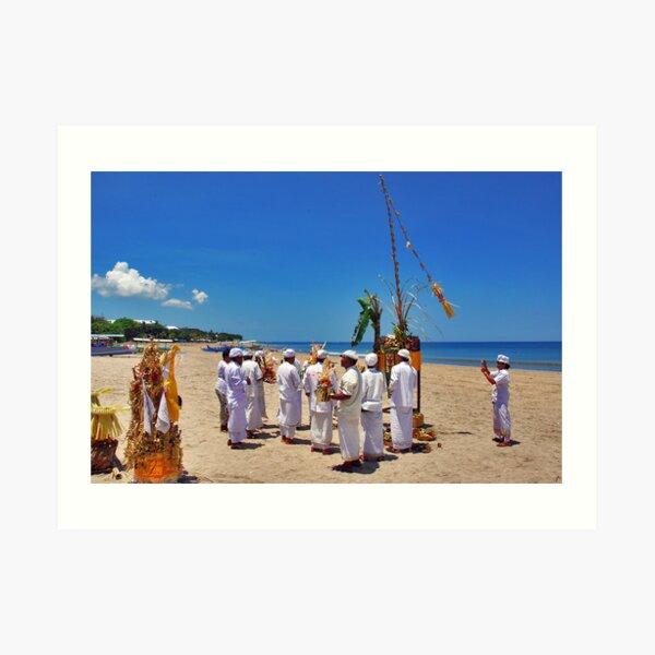 Ceremony on the beach Art Print
