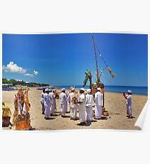 Ceremony on the beach Poster