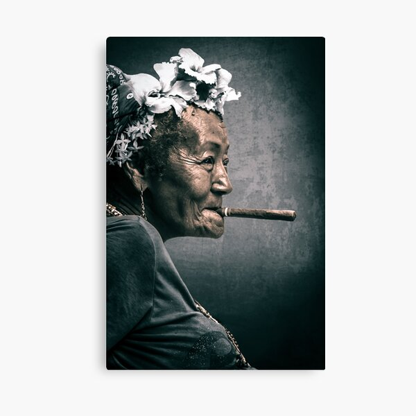 Cuba - woman with a cigar Canvas Print
