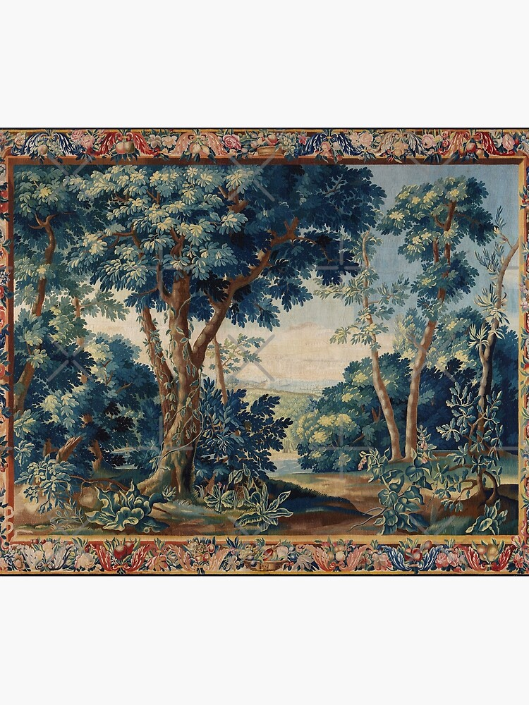GREENERY, TREES IN WOODLAND LANDSCAPE Antique Flemish Tapestry by BulganLumini