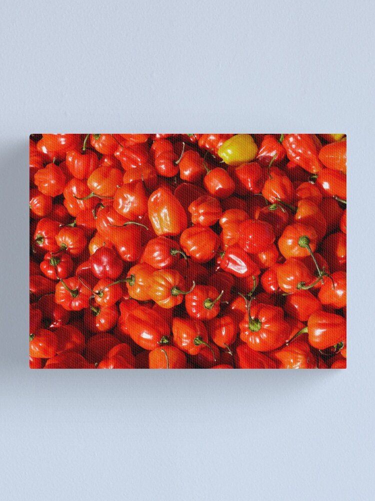 Alternate view of Food - small red peppers Canvas Print