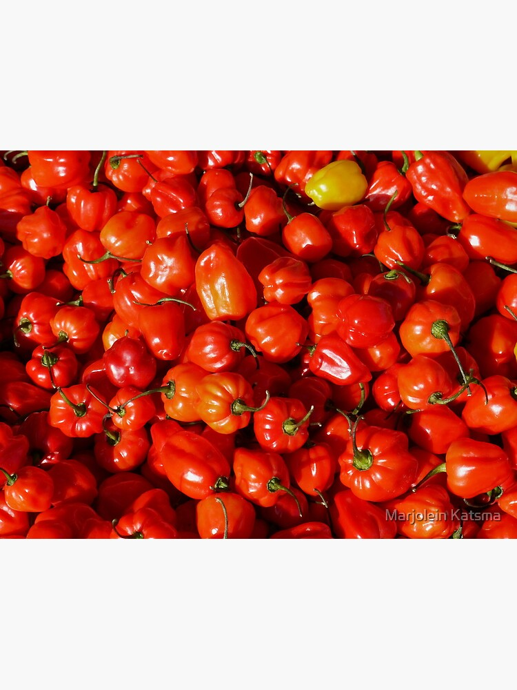 Food - small red peppers by marjoleink