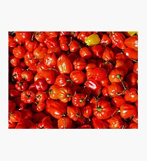 Food - small red peppers Photographic Print