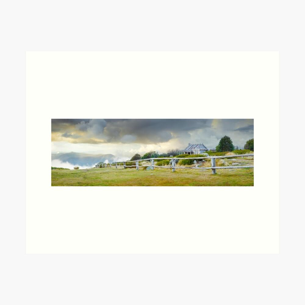 Stormy Evening at Craigs Hut, Mt Stirling, Victoria, Australia Art Print