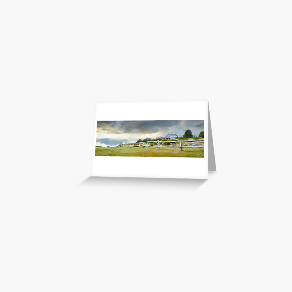 Stormy Evening at Craigs Hut, Mt Stirling, Victoria, Australia Greeting Card