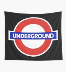 LONDON UNDERGROUND Wall Tapestry