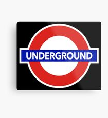 LONDON UNDERGROUND Metal Print