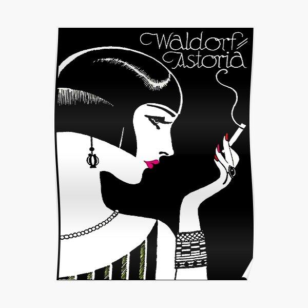 WALDORF ASTORIA : Vintage Hotel Advertising Print Poster