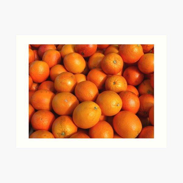 Food - maroc oranges Art Print
