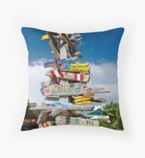 Give us a sign.... Throw Pillow