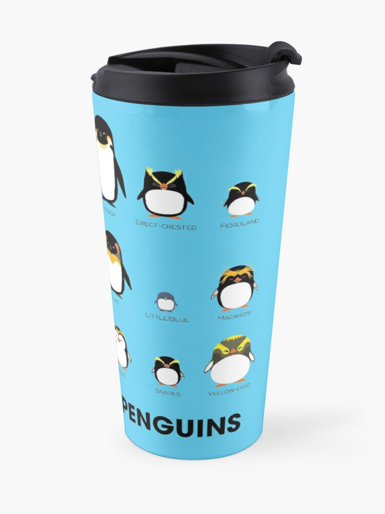 Alternate view of Know Your Penguins Travel Mug