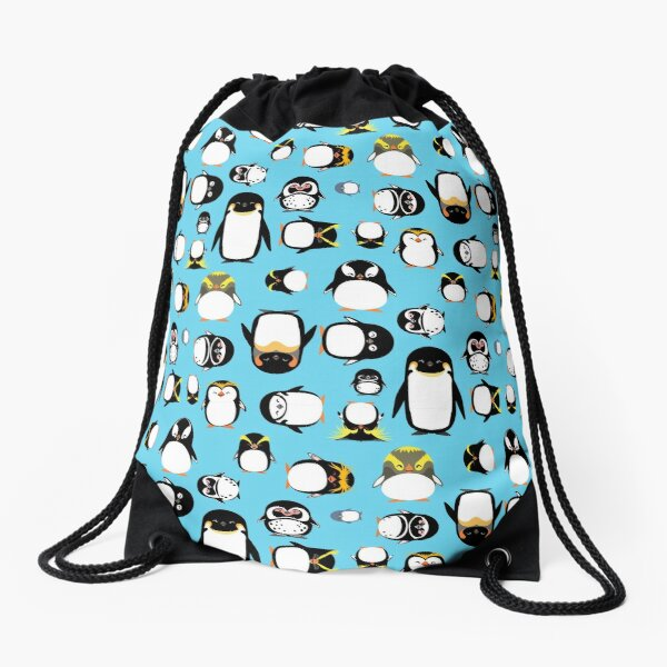 Know Your Penguins Drawstring Bag