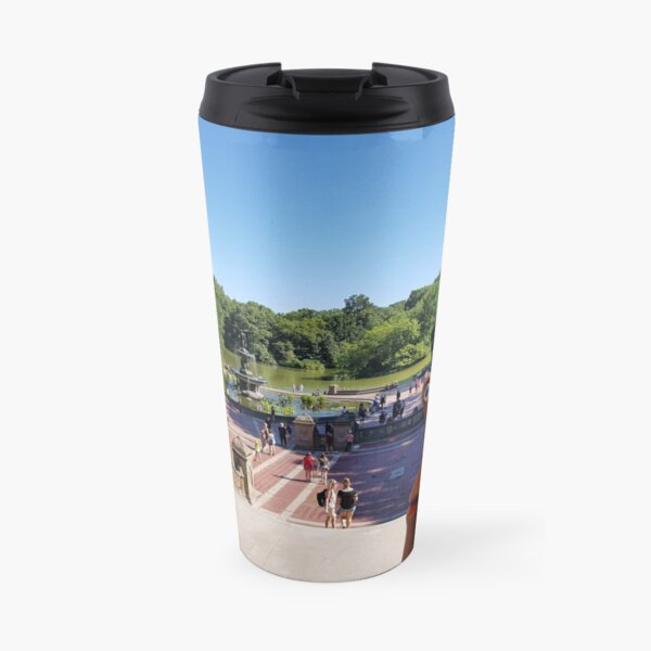 Snail and Puffin in Central Park, NY Travel Mug