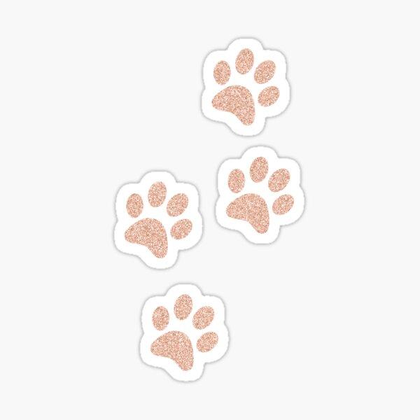 Rose Cat Dog Kitten Puppy Paw Print Sticker