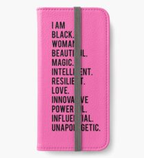 I Am Black Woman | African American | Black Lives iPhone Wallet/Case/Skin