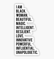 I Am Black Woman | African American | Black Lives Sticker
