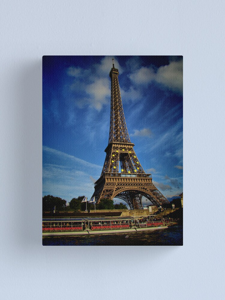 Alternate view of Eiffel tower in hdr Canvas Print