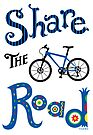Share The Road  ll - card   by Andi Bird
