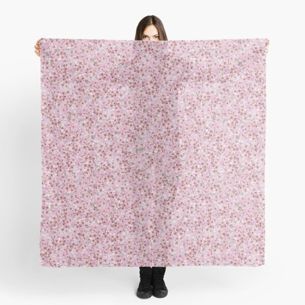 Pink Cherry Blossom Floral Design Scarf