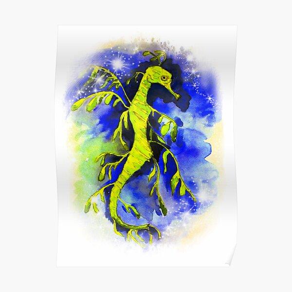 Green Leafy Seadragon Poster