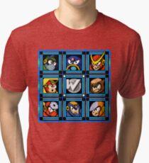 Megaman 2 Boss Select Tri-blend T-Shirt
