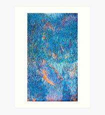 Blue Flame Landscape Art Print