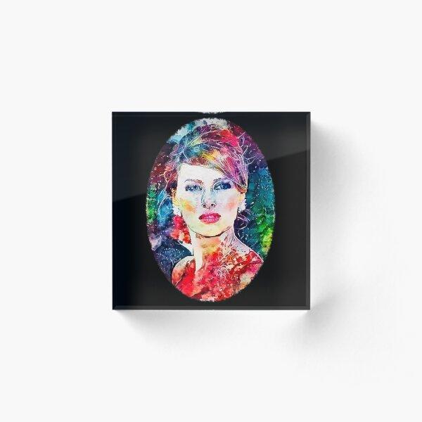 FLOTUS Melania - Watercolor Beauty Queen Edition Acrylic Block