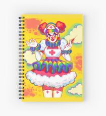 Rainbow Clown Krankenschwester Spiralblock