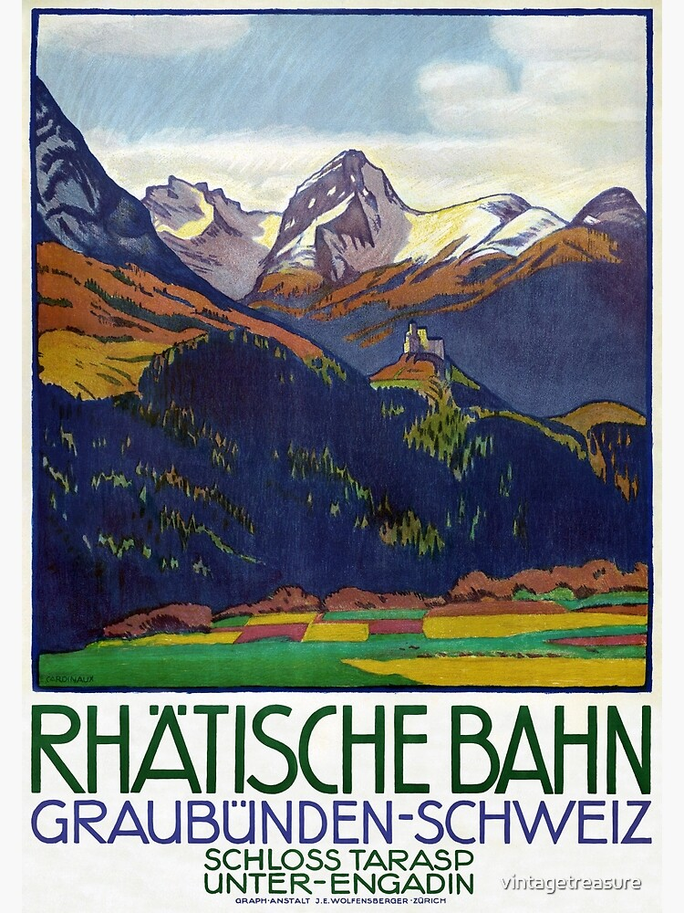 Switzerland Vintage Travel Poster 1914 Restored by vintagetreasure