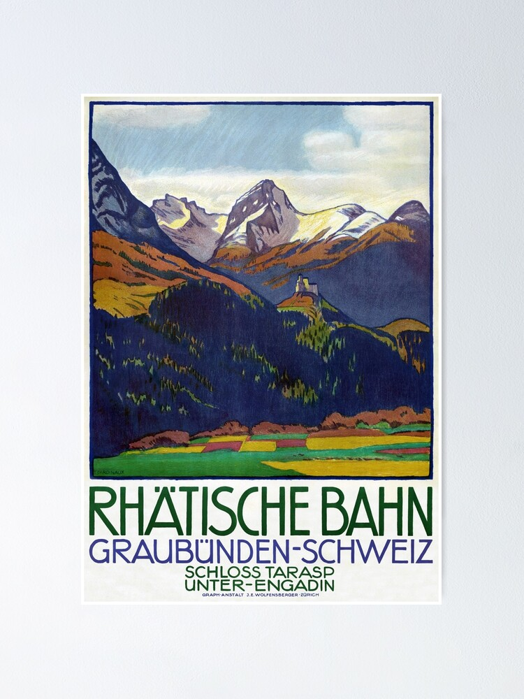 Alternate view of Switzerland Vintage Travel Poster 1914 Restored Poster