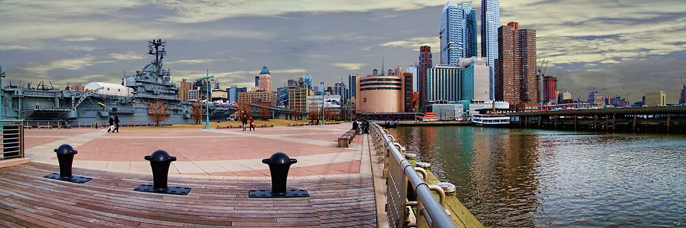 The Intrepid & West Side Piers Panorama, NYC, USA by Chris Lord