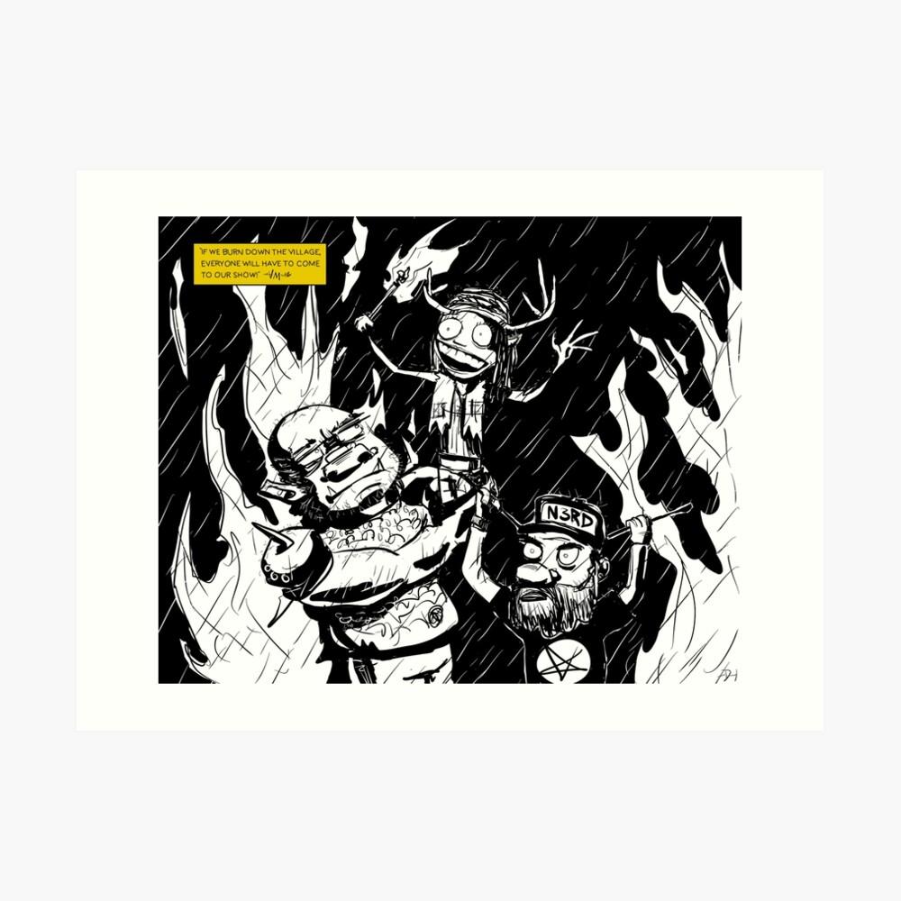 Burn Down the Town! Art Print