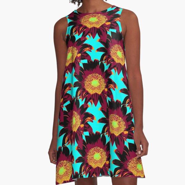 Sunflower Pattern A-Line Dress