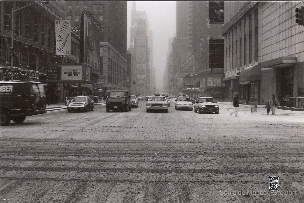 Slow NY in the Snow by Sonia de Macedo-Stewart