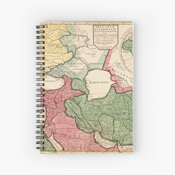 Map of the Middle East (1712) Spiral Notebook