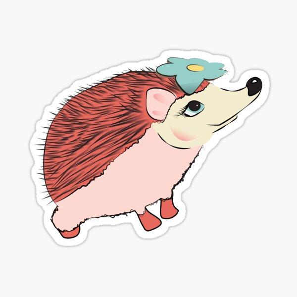 Hedgehog girl - gift on Saint Valentine's Day (14 February) Sticker