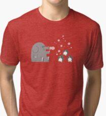 Elephants & Penguins love bubbles. Tri-blend T-Shirt
