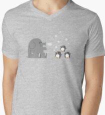 Elephants & Penguins love bubbles. Men's V-Neck T-Shirt