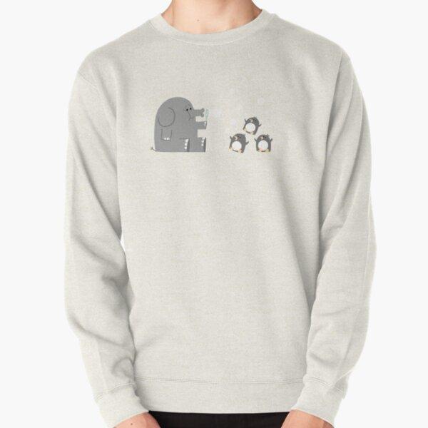 Elephants & Penguins love bubbles. Pullover Sweatshirt