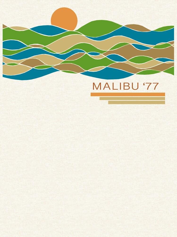 Malibu Beach Modern Vintage/Retro original design by challisandroos