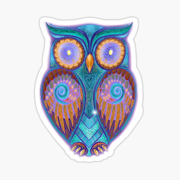 Owl 3 Sticker