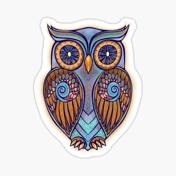 Owl 7 Sticker