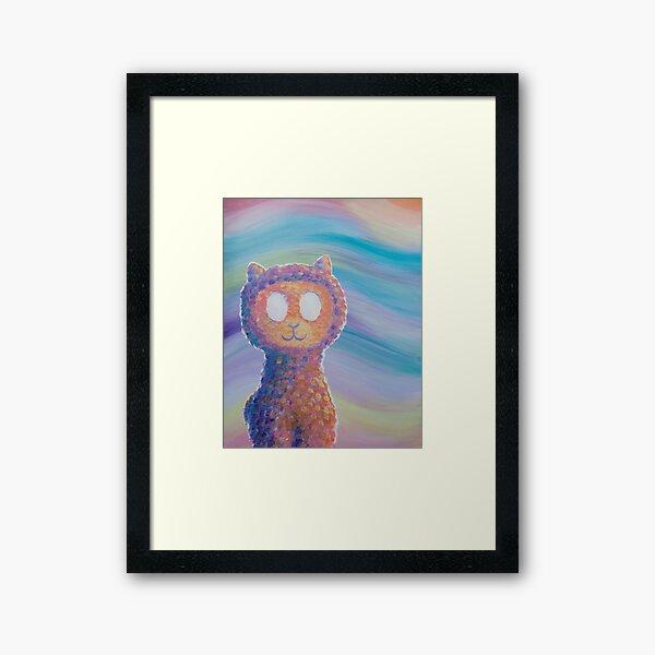 Spoopy Alpaca Framed Art Print
