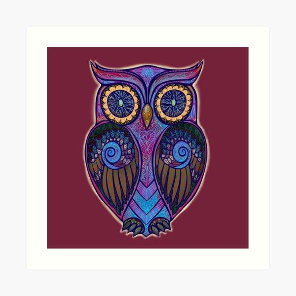 Ornate Owl 9 Art Print